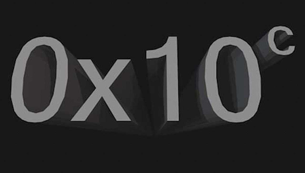 0x10^c